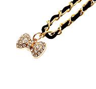 Black Fashion Fabric bowknot Colar Pingente de Ouro Liga (1 Pc)