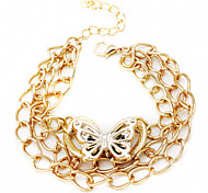 Stile Europeo farfalla braccialetto di fascino