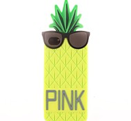 Pineapple Wearing Glasses Silicone Soft Case for iPhone 4/4S