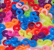 herramientas o los encantos de colorido arco iris de colores del telar s-clips rellenar bandas pulsera conector (240 PC)