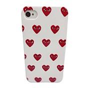 Ojos hermosos de Patrón Amor PC nuevo caso para el iPhone 4/4S