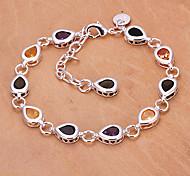 mode 25cm bracelets de cuivre argent des femmes