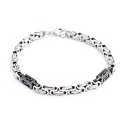Fashion Men's Titanium Steel Black-shape and The Great Well Chain Bracelets
