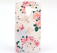 Rose Flower Pattern Plastic Hard Case for Motorala Moto X