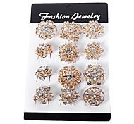 12 PCS Per Package Golden Plated Brooch