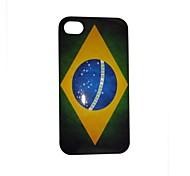 Vintage Pattern Bandeira Brasil volta caso PC para o iPhone 4/4S