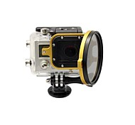 2014 New Arrival camera accessories 58mm Flip Converter for Gopro 3 Housing - Gold