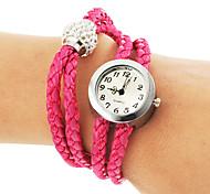 Frauen Einfache Round Dial Strick Band Quarz Analog Armbanduhr (verschiedene Farben)