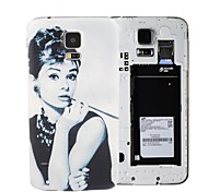 Elonbo Charming Audrey Hepburn PC Bendable Battery Back Cover Housing Case for Samsung Galaxy S5 I9600