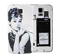 Elonbo Encanto Audrey Hepburn PC Case cubierta de la cubierta Bendable batería nuevo caso para Samsung Galaxy i9600 S5