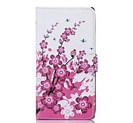 Plum Flower Pattern PU Leather Full Body Case for Sony T2