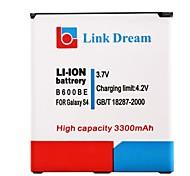 Lien Dream High Quality 3.7V 3300mAh batterie de téléphone portable pour Samsung i9500 i545 i337 S4 L720 M919 R970 (B600BE)