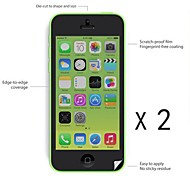[2-Pack] High Quality Anti-fingerprint Screen Protector for iPhone 5C