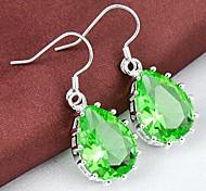 Red Quartz améthyste verte Prasiolite Bleu Améthyste Les 2pairs lumière quartz vert Gemstone Daily baisse Argent Classis Boucles d'oreilles