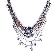 2014 Fashion Chain And Crystal Wrapped Luxury Shourouk Statement Necklace