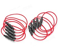 5 x 20mm Holder Fuse Base - (rosso + nero) (10 PCS)