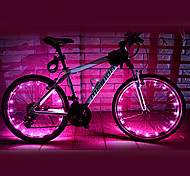 FJQXZ 18 LED 2 modes Light Pink vélo Roue - 1 PC