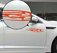 Red Flow Liner Pattern Decorative Car Sticker