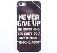 Never Give Up diseño del estuche rígido de aluminio para el iPhone 5/5S
