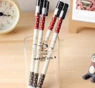 Journey of Sweet  Dot Pattern Black Ink Gel Pen(Random Color)