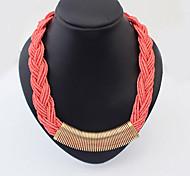 Богемия ручной акриловые бисера Плетение колье ожерелье