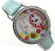 Women's Rabbit  Decor Dial PU Band Quartz Analog Wrist Watch (Assorted Colors)