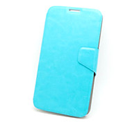 For Samsung Galaxy Case with Stand / Flip Case Full Body Case Solid Color PU Leather Samsung S5