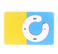 C Button Colorful Block Design Clip MP3 Player with TF Card Reader
