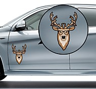 Deer with Glasses Pattern Decorative Car Sticker
