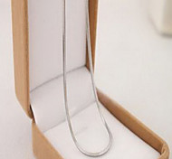 Fashion Chain Silver Titanium Steel Chain Necklace (1 Pc)