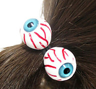 1 Pair Hair Band In Eyeball Design