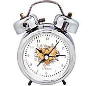 Timess™  Carnation Double Bell Night-light Mute Alarm Clock