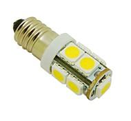 E10 2W 9X5050 SMD 3000K quente lâmpada luzes brancas LED Luz para DIY (DC 12V, 2 pacotes)