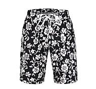 Men's Polyester Flower Printing Surf Beach Short