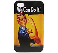 Carcasa Dura de Trabajadora Fuerte para el iPhone 4 y4 S