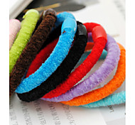 Mixed Colors Rope Elastic Girl's Hair Ties Bands(Random Color)