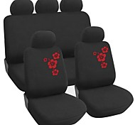 9 PCS Set Car Seat Covers ricamo floreale Universal Design Fit Accessori Auto