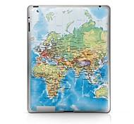 Padrão Mapa Etiqueta protetora para iPad 1/2/3/4