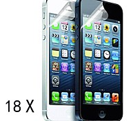 [18-Pack] Premium High Definition Clear Screen Protectors for iPhone 5/5S