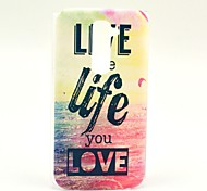 Live Life You Love View Sea Pattern Hard Case for HTC G2/D801 Magic