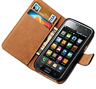 Genuine Leather Case voor Samsung Galaxy S i9000 I9001 met Card houders