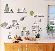 Doudouwo® Still Life The Green Tableware Wall Stickers