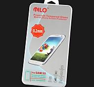 MILO Terceira Geração 0,2 milímetros de alta qualidade de vidro temperado protetor de tela para Samsung Galaxy S5/I9600