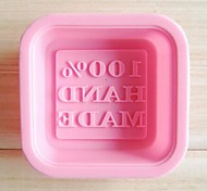 """100% HAND MADE ""Letter Shape Cake And Soap Mold,Silicone 6×6×2 CM(2.4×2.4×0.8 INCH)"
