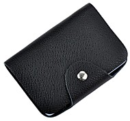 Portable Genuine Leather Bankcard Wallet Card  Credit Card Holder Bag with 26-Slots