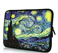 Pinturas de Van Gogh Elonno Neoprene Laptop Sleeve Case Bag Bolsa de cobertura para 11'' Macbook Air Dell Acer HP