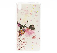 For HTC Case Pattern Case Back Cover Case Sexy Lady Soft TPU HTC
