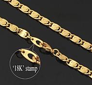 u7® annata 18k robusta oro riempito collana a catena figaro, da uomo 6 millimetri 22inches 55 centimetri
