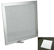 TWP-18 18W 1600lm 6500K 54-5730 SMD LED White Panel Light - White + Silver (AC 85~265V)