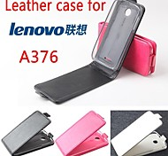 Leather Flip Case Cover for Lenovo A376 Smartphone 3-color